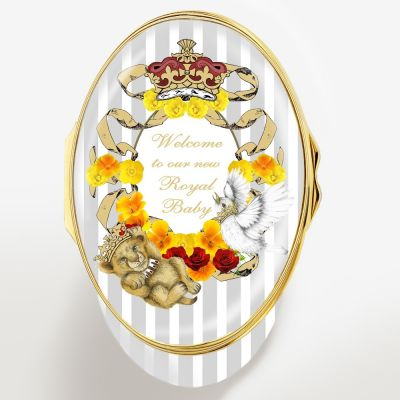 Halcyon Days Limited Edition Enamel Trinket Box - Welcoming the Royal Baby 2019 Archie Harrison Mountbatten-Windsor