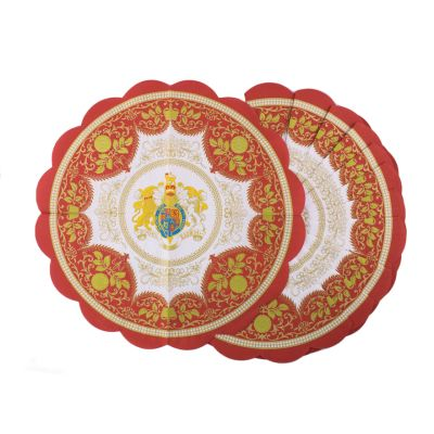 Royal Palace Crest Round Paper Napkins
