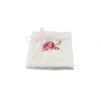 Palace Rose Collection pink floral cotton velour face cloths