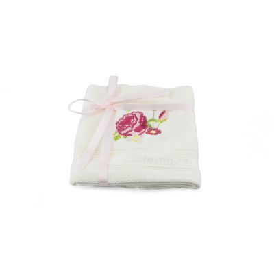 Palace Rose Collection pink floral cotton velour face cloths