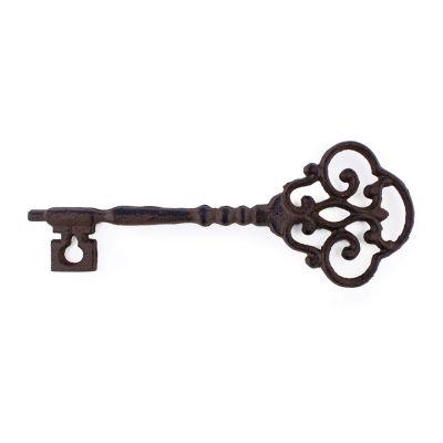 Large rustic metal key ornament