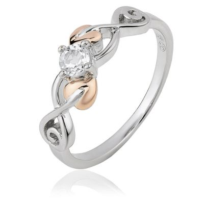 Tree of Life Silver Rose Gold Ring