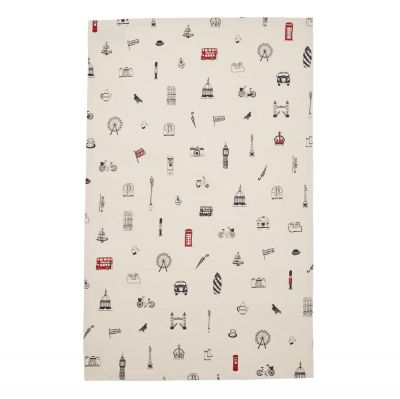 Simply London cotton tea towel
