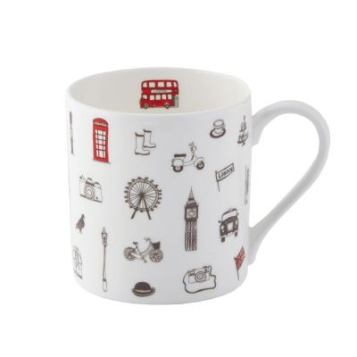 Simply London fine bone china mug