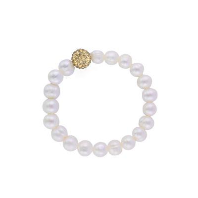 Swarovski Real Pearl Gold Sparkling Bracelet