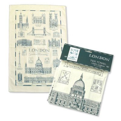 London landmarks tea towel
