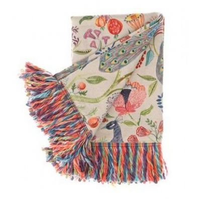 Barabadur peacock throw