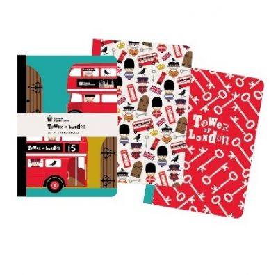 Tower icons notebooks, set of 3