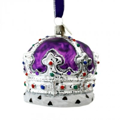 Brink Purple crown glass tree decoration