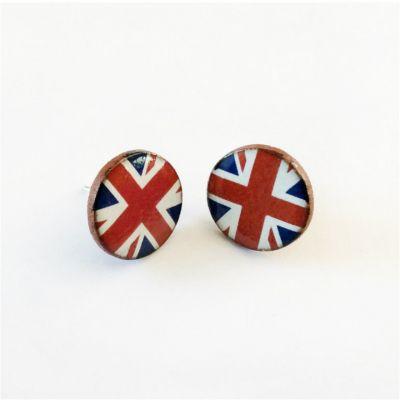 Union Jack Ceramic Earrings - handmade in Cornwall UK
