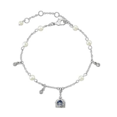Queen Victoria's small diamond crown charm bracelet
