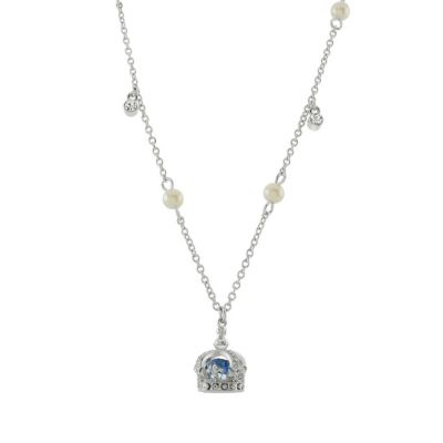 Queen Victoria's small diamond crown charm necklace