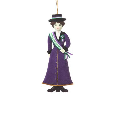 Votes for women suffragette with sash decoration