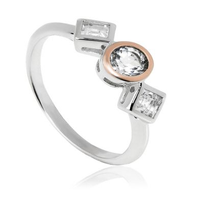 Clogau Welsh Royalty silver rose gold ring