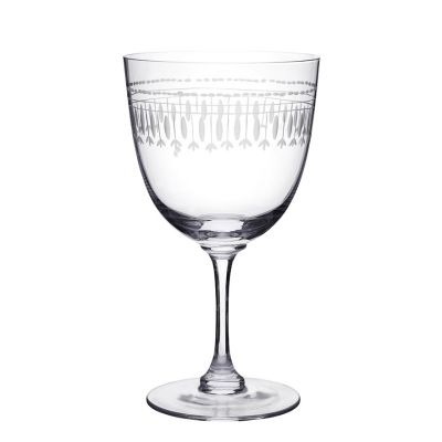 Vintage style engraved wine glasses