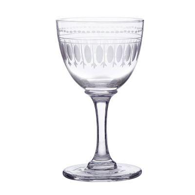 Vintage style engraved liqueur glasses