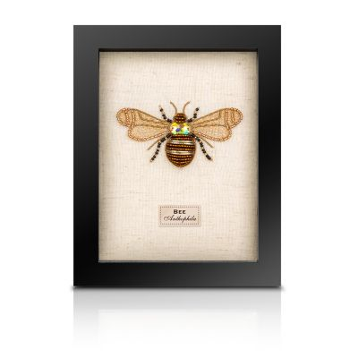 Embroidered Taxidermy - small framed Bee