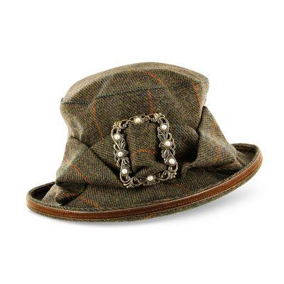 Waterproof tweed hat with buckle