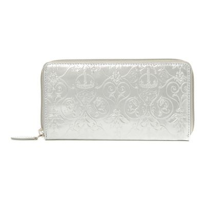 Royal Victoria silver metallic leather wallet
