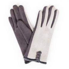 Amanda charcoal faux suede gloves