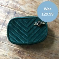 Forest Quilted Make Up Bag