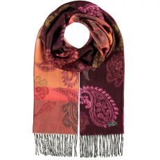 Paisley Cashmink dark red scarf