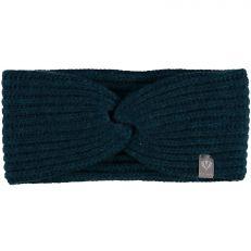 Dark Blue Knitted Pure Cashmere Headband
