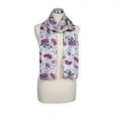 White 'Hydrangea' summer scarf