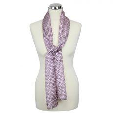 pink clover silk scarf long