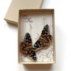 Painted Lady Butterfly Earrings in box