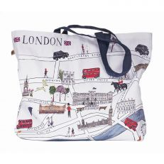 London Map Illustration tote bag