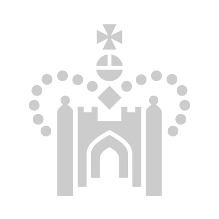 Anne Boleyn Queen 'B' initial black luxury folding hand fan