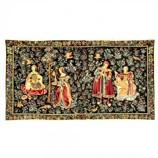 "Seignorial Scenes ""Thousand Flowers"" medieval flemish tapestry"