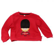 Tower of London guardsman icons children's red jumper