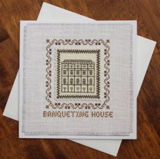 Banqueting House christmas cross stitch card