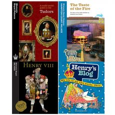 4 books including: useful guide to the tudors, the taste of fire, henry 500 facts and Henry's blog
