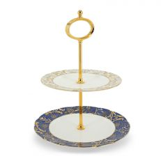 Royal Victoria bone china 2 tier cake stand