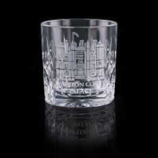Hampton Court Palace engraved tot glass