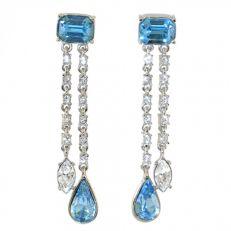 Crowns and regalia Durbar aquamarine earrings