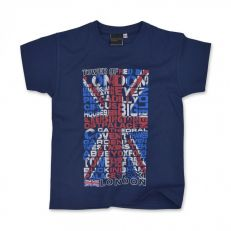 Navy Union Jack kids t-shirt
