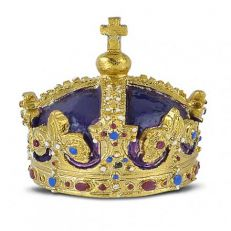 HENRY'S CROWN GOLD PLATED PIN BADGE