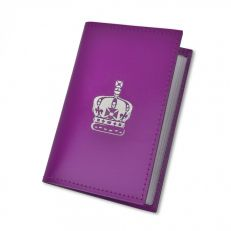 Crown of India purple leather credit card holder