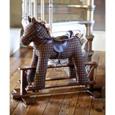 Little bird told me Tennyson fabric rocking horse