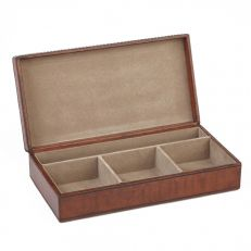 Life of Riley Leather cufflinks box open