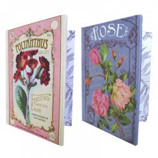 English rose and polyanthus A4 notebooks