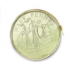 Gold Half Penny Coin Purse