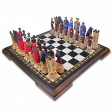 Handpainted Tower of London chess set