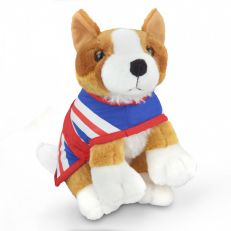 Royal corgi dog plush toy