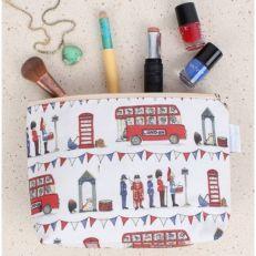 Celebrating Britan cosmetic bag