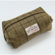 Luxury tweed wash bag